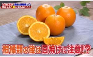 柑橘類と日焼01